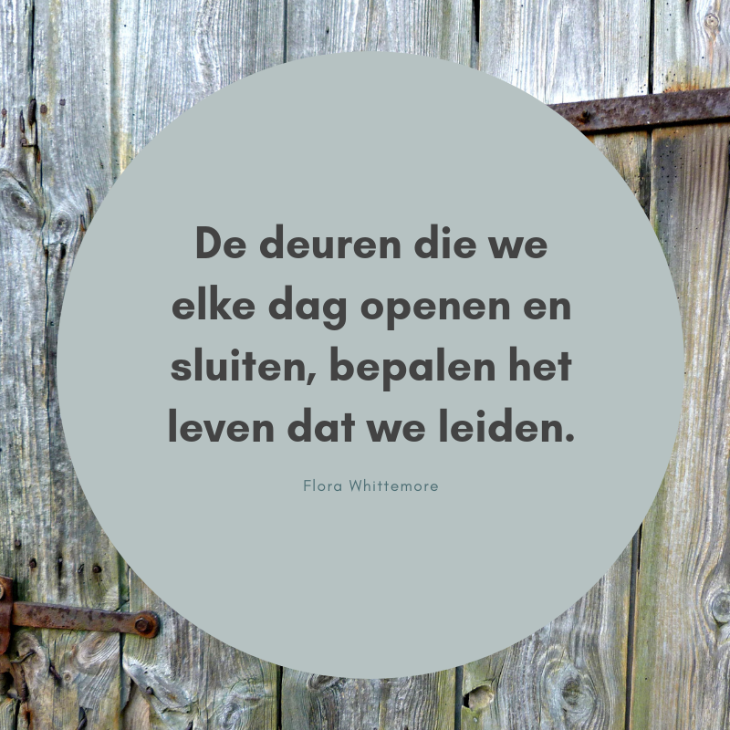 Wooden door with Circle Background Motivational Quote-2